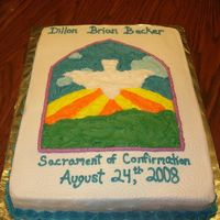 Confirmation Cake The design was copied from the invitation to the confirmation. All BC