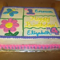 Girls Cake This was a cake for two sisters who were having a shared party. All buttercream.