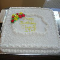 Lace Cake For a combined reunion/birthday party