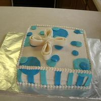 Baptism Cake MMF and bc frosting...I made this for my son's baptism. White chocolate raspberry cake with raspberry filling-yummy!