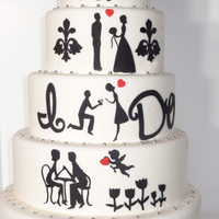 The Love Story Wedding Cake I was trying to make a wedding cake which tells the whole love story.Thanks for checking : )