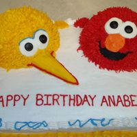 Elmo & Big Bird This was my first attemp at using sports ball pans. I made this for a friend's little girl. Took me a long time, but I think it was...