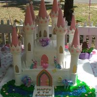 My Little Pony Castle Cake My granddaughter wanted a My Little Pony cake for her birthday. I reseached and found three things about My LIttle Pony. Rainbows, castles...