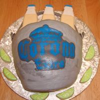 Corona Cake This cake tried my paitence. This is the repaired version-the original version broke apart. I tried carving a bunch of layers to make the...