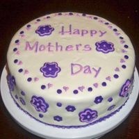 Mother's Day Fun!  I loved making this cake.. one thing though. Now I know why I never hear of fondant over whipped cream cheese icing... eeekkkk!!!! It melts...