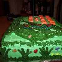 Tree Frog2 Side view of tree frog cake