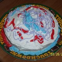 My Sons First Cake My son (3 at the time) made this cake while I was decorating another one.