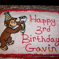 Curious George A FBCT done on white buttercream.