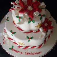Candy Canes And Christmas  This was inspired by Colette Peters Christmas Cake pictured on the cover of American Cake Decorating Nov/Dec 1995 issue. This cake is the...