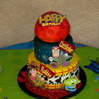 Toy Story Cake For Two! homemade fondant, gum paste decorations created by me. Mars inspired by a gal on youtube...