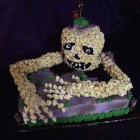 Where's The Party? Skeleton Cake