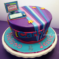Icarly Birthday Cake I used the partyware as inspiration for this iCarly birthday cake for two girls, ages 6 and 4. All fondant decorations except the computer...