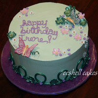 Happy Irish Birthday! An 80th birthday cake for a woman who is also proud of her Irish heritage. Her daughter requested something simple with butterflies and...