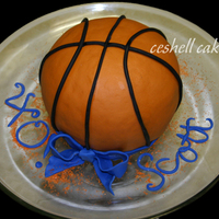 Basketball Birthday Cake This quickie basketball is missing several key elements that I would have liked to included, such as a proper basketball texture and also a...