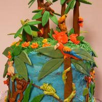 Rainforest Birthday Cake View 2