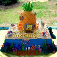 Spongebob 2Nd Birthday Cake