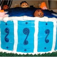 An Above-Ground Swimming Pool Cake