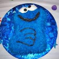 Cookie Monster This is the small Cookie Monster pan. I had no instructions so I just winged it. It turned out pretty good and the little boy ended up with...