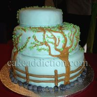 Colors Of Nature This is a cake I decorated in honor of one of my grandfather's paintings for an art gallery exhibit. Decorated with fondant and royal...