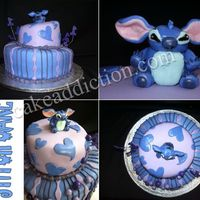 "Stitch Cake Here's my first whimsical cake! It was for my friend's daughter's first birthday party. Her name is ""Rylie"" so..."