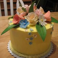 Gp_Resize.jpg Made with leftover GP flowers, white cake with buttercream icing