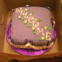 Welcome Cake Cake for our new summer associates. Frills practice.