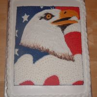 4Th Of July Eagle White almond sour cream cake w/ bailey's irish cream filling. This was a fun one to do. I loved it so much, I almost wished it wasn&#...