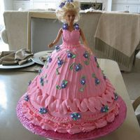 Barbie Cake   all b/c royal icing flowers