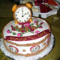 Around The Clock Bridal Shower This was for one of my own Bridal Showers and the theme was around the clock. Thanks to Boween and her great cakes for my inspiration. I...
