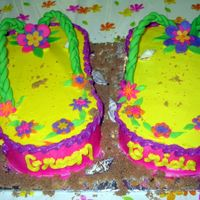 Brides Flip Flops This cake was for one of my own bridal showers. The theme was Hawaiian so I thought flip flops would be neat. (Especially since that is my...
