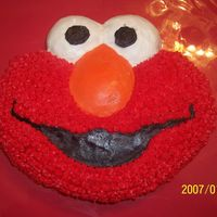Elmo Cake For My 3 Yr Old's Birthday.