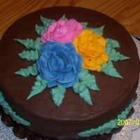 Chocolate Cake This is another cake I made for the memorial service of a friend's mom. Same issue with the roses but time was not on my side.
