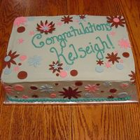 8Th Grade Graduation Lemon poppy seed cake with lemon BC frosting, fondant accents