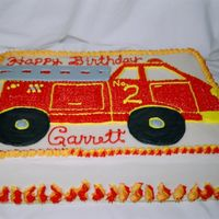 Firetruck Birthday Cake  Again this is a photo from last fall that I just transferred to a disc. This was for a friend's son who was turning 2. I didn't...