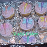 Dragonfly Cupcakes  These were made to go with the dragonfly cake that I posted earlier. I had extra cake mix, frosting and dragonflies so I thought I would...