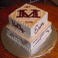 U Of M Graduation This was for a combined graduation party. One girl was a business major and the other was a chemistry major. They needed a big cake and...
