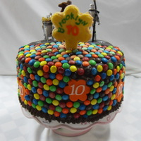 M&m Cake I wanted to use a great tasting chocolate icing as my grandaughter loves chocolate. Well, turns out its pretty soft, but I wasn't...