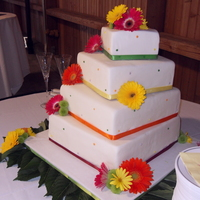 Bright Colors Enjoyed doing this bright colored cake for this bride. Borrowed the design from a CC'r. Bride loved it! Thanks....I hope I did it...