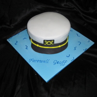Farewell Cake chocolate muds carved into sailors hat