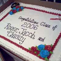 Graduation Cake.... Here's an 18x24 sheet cake... I modified an idea from another user.... so thanks for that!!! First big sheet cake... I held my breath...