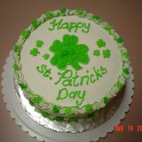 St Patricks Day Layer cake with buttercream frosting, donated to school bake sale.