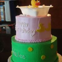 Rubber Ducky In A Bathtub This was a 1 yo birthday cake I did last weekend. I just fell in love with it. Inspiration came from somebody here on CC. Thanks!!! The...