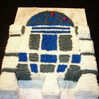 R2D2 Cake This was for a friend of mine's DH who is a HUGE Star Wars fan, like me :-) He put in his order for a Wookie next year. Bailey's...