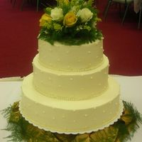 50Th Wedding Anniversary Cake This cake was for a wonderful couple. Strawberry, lemon and white cakes, BC frosting.