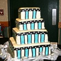 Abby And Nate's Wedding Cake The bride's colors were black and turquoise. I got this idea from David Tortora's book (is that the right spelling?). Dark...
