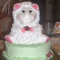 "Little Lamb The ""mother to be"" that this shower was for had decorated the nursery in lambs. All of her friends wanted a cake to represent the..."