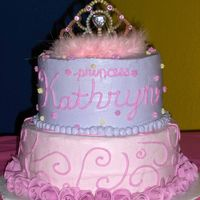 Princess Birthday Cake for my niece's birthday. Wanted a princess look without the princess characters. Got this idea out of one of the Wilton year...