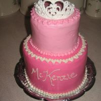 Princess Mckenzie's Cake My daughter's 4th birthday cake. I wish I had taken a picture after I patted down all the stray frosting that was sticking out...