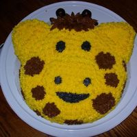 Giraffe Star Cake This was my 1st star cake. I used the Animal Cracker Pan. I made the horns with Almond Pase. Lots of fun!!