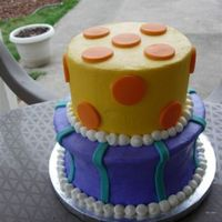 Just A Fun Shaped Cake Buttercream with fondant parts. Just a fun cake to practice with. I took it to my mom's work and got about 5 Cake orders. Sometimes...